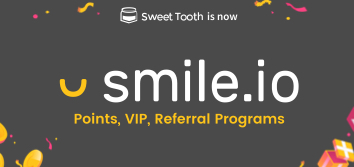 Smile.io allows you to set up and run your own branded reward programs with points, referrals, and VIP.