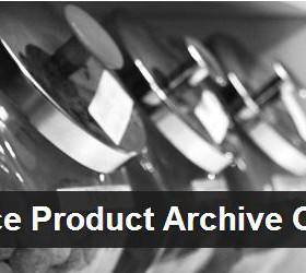Product Archive Customiser