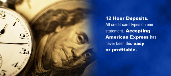 Credit Card Processing, Online Merchant Account Services Featuring 12 Hour Bank Deposits