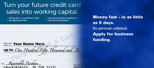 Turn Your Future Credit Card Sales into Working Capital. Apply for Business Funding